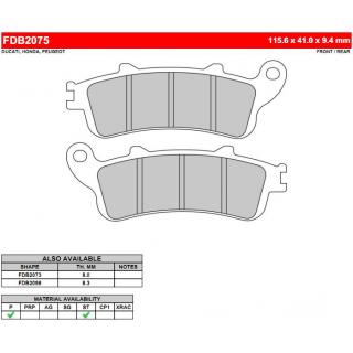 Тормозные колодки дисковые FERODO MOTO FDB2075SM