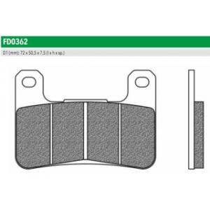 FD0362TS Тормозные колодки для HYOSUNG, KAWASAKI Z, SUZUKI GSX, INTRUDER (FDB2178ST)