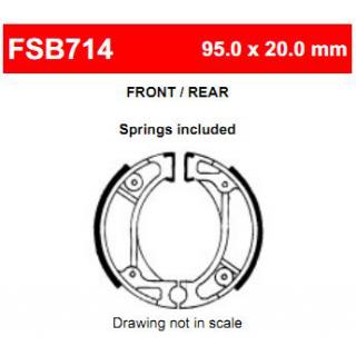 Тормозные колодки барабанные FERODO FSB714