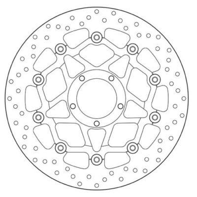 Тормозной диск BREMBO 78B408A4 для мотоцикла DUCATI MONSTER, MULTISTRADA
