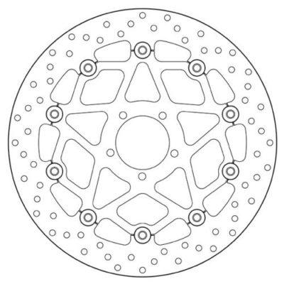 Тормозной диск BREMBO 78B408B1 для мотоцикла KTM SUPER DUKE 1290