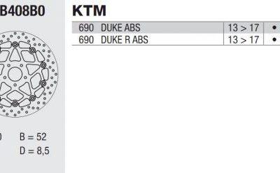 Тормозной диск BREMBO 78B408B0 для мотоцикла KTM DUKE 690