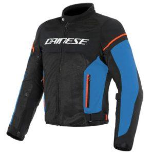 Куртка текстильная Dainese Air Frame D1 Black/Light-Blue/Fluo-Red 52