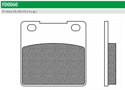 FD0060TS Тормозные колодки для KAWASAKI ZR, ZX, SUZUKI GSX, RG, TL (FDB338ST)