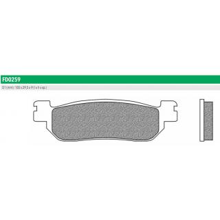 FD0259BT Тормозные колодки для ITALJET, MBK, YAMAHA (FDB2083P)