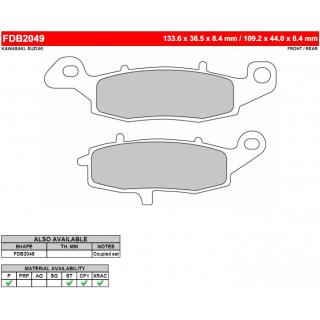 Тормозные колодки дисковые FERODO FDB2049ST