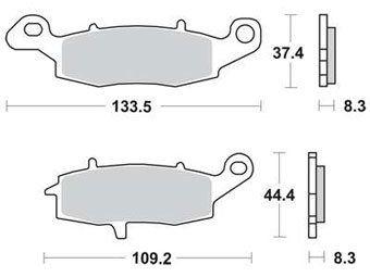 Тормозные колодки Lucas TRW – MCB681SV