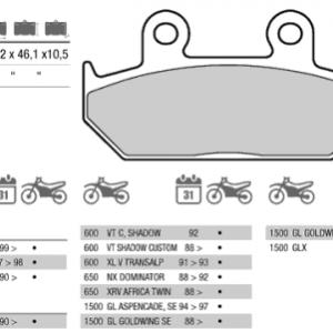 Колодки тормозные МОТО BREMBO 07HO3509 (FDB663)